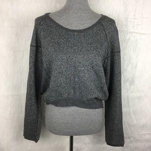 Converse Heather Gray Cropped Sweatshirt